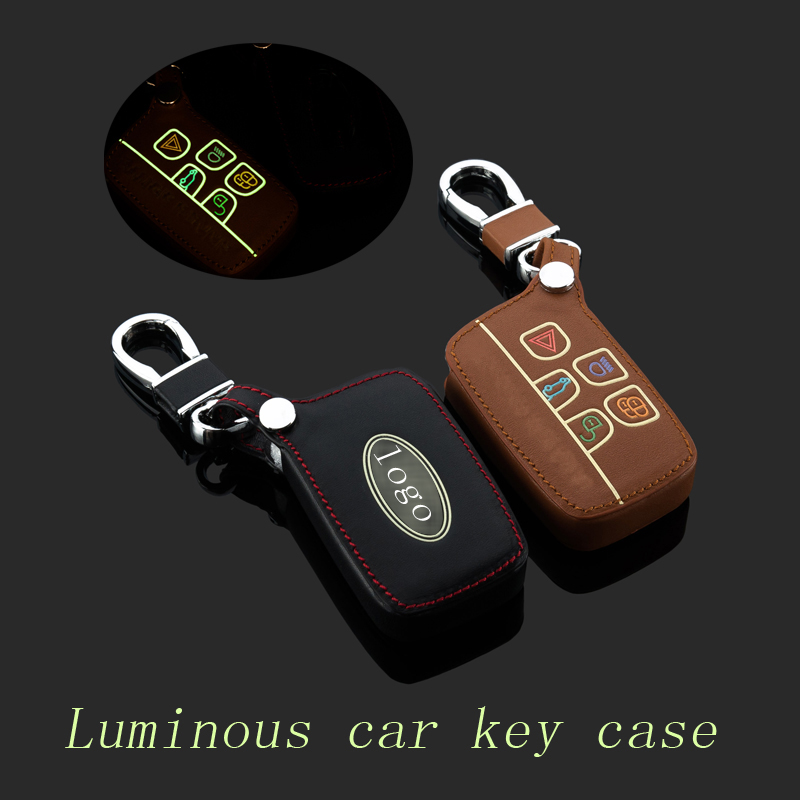 Leather car Key fob case cover for Land <font><b>Rover</b></font> a9 <font><b>range</b></font> <font><b>rover</b></font> freelander <font><b>Evoque</b></font> discovery <font><b>keychain</b></font> ring key holder bag Accessory image