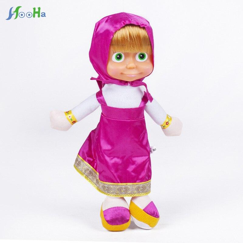 Russian Style Masha Bear Toys Plush Dolls No Battery Baby Children Gifts Stuffed & Plush Animals Toys Silicone Reborn Baby Dolls