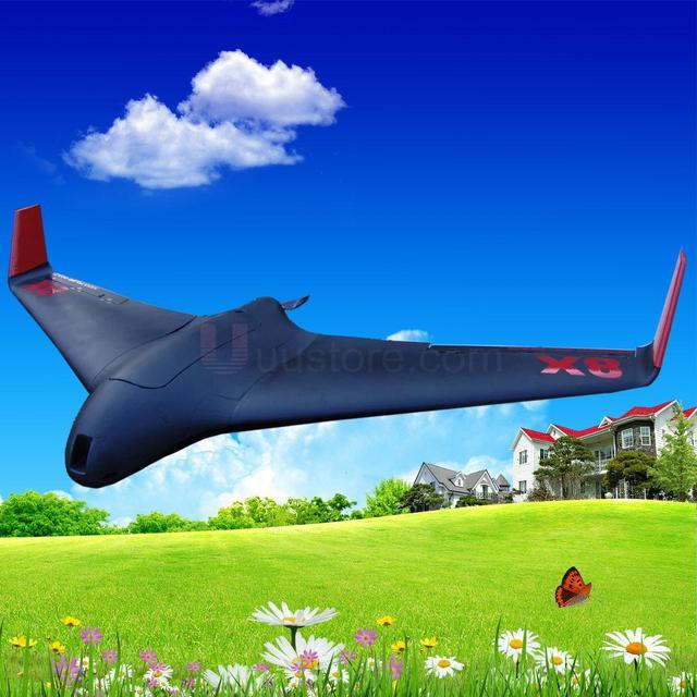 Skywalker X8 2120mm EPO UAV FPV Ala Volante RC Plane KIT (Negro) de Control Remoto de Juguete