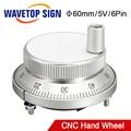CNC маховик генератора 5 в 4Pin 6Pin импульсный 100 ручной импульсный генератор ручное колесо CNC машина 60 мм роторный энкодер
