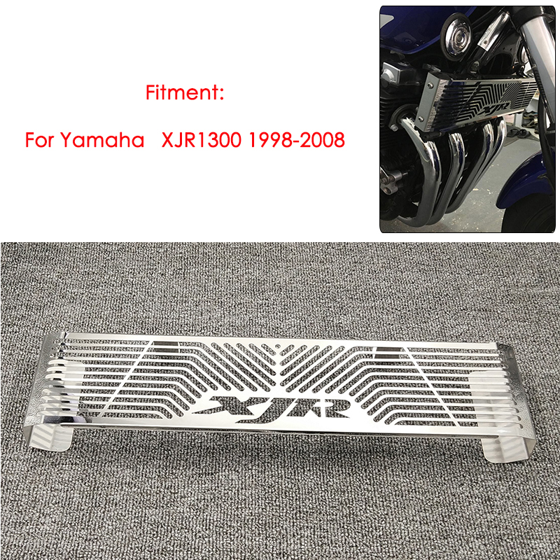 Motorcycle Parts Radiator Grille Grill Guard Cover Protector For <font><b>YAMAHA</b></font> <font><b>XJR</b></font> <font><b>1300</b></font> XJR1300 1998-2008 High Quality Stainless Steel image