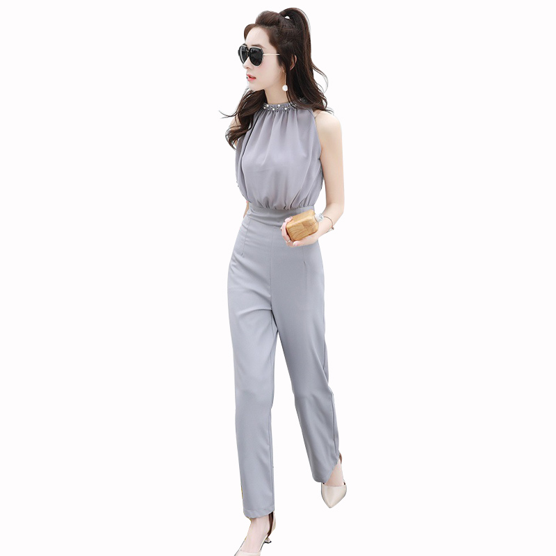 New 2017 Woman Fashion Jumpsuit Designs Luxury Solid Color Jumpsuit Women Summer Sexy Women ...
