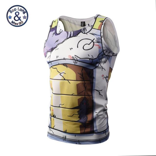 19fe830689a754 Mens Dragon Ball Z Vegeta Armor Tank Tops Bodybuilding Vest Fitness Tank Top  Hipster 3D Anime t shirts Tanks DBZ t shirt tee
