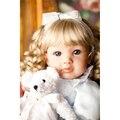 """22 """"realista reborn baby doll girl regalos de la muñeca de vinilo suave bebé recién nacido realista lindo chica rubia pequeña princesa para la muchacha regalo"""