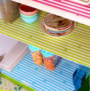 Image 1 - Waterproof kitchen antibacterial paper PET plastic placemat table wardrobe cupboard decoration rectangle drawer fridge mat