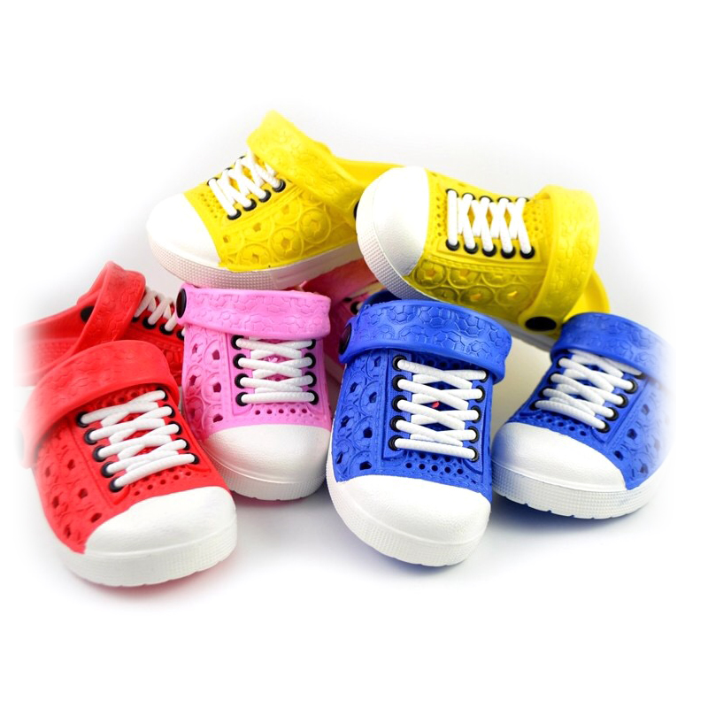 Melissa Boys Sandals Children's Hole Shoes Color Candy Imitation Lace Breathable Soft Shoes Indoor And Outdoor Sandals Slippers
