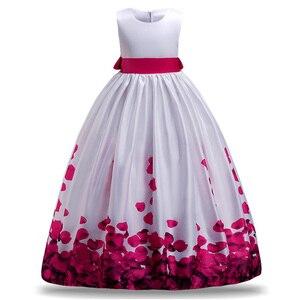 Платье с цветами для девочек, детское платье на свадьбу, платье для подружки невесты, рождественское платье для девочек-подростков, одежда д...