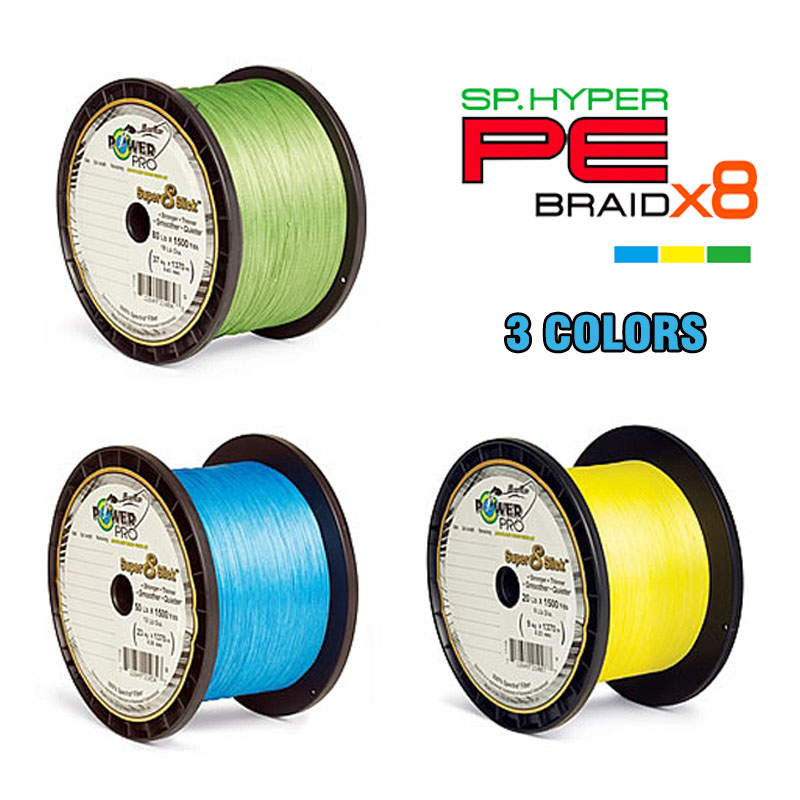 P0WER PRO 1500YDS Braided Fishing Line 8 Strand 65 LB 120LB Saltwater Freshwater Underwater Hungting Fishing