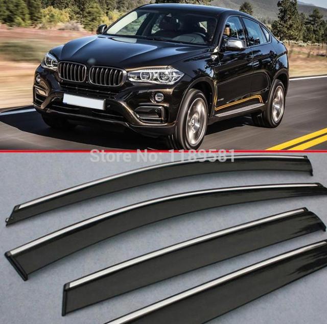 Para BMW X6 2008-2014 a Janela Do Vento Defletor Visor Chuva/Sun Guard Ventilação