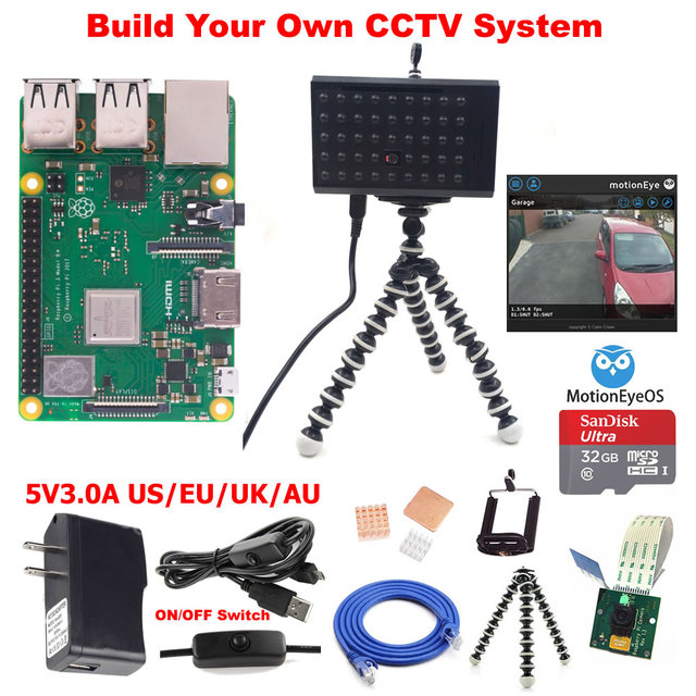 US $38 87 |Raspberry Pi 3 Model B+ B Plus CCTV Camera Kit-in Demo Board  from Computer & Office on Aliexpress com | Alibaba Group