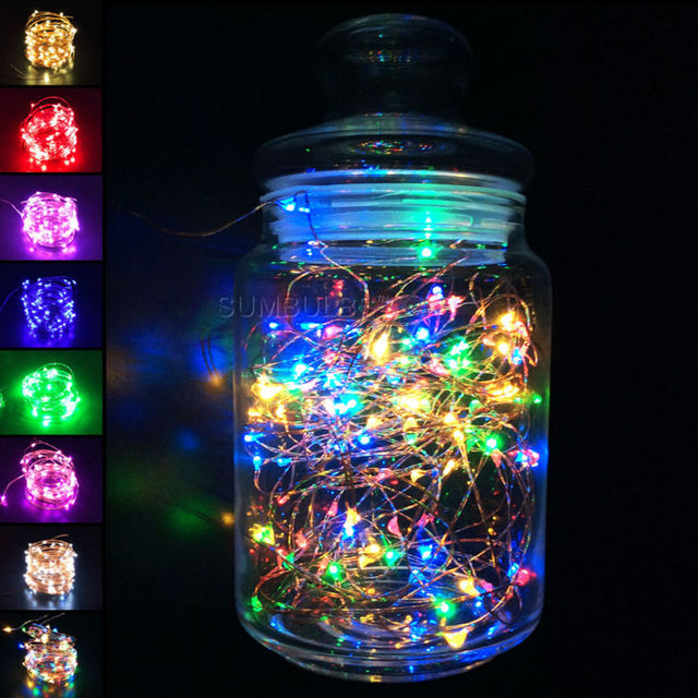 1m 10m led string light usb battery powered cooper wire fairy christmas lights multi
