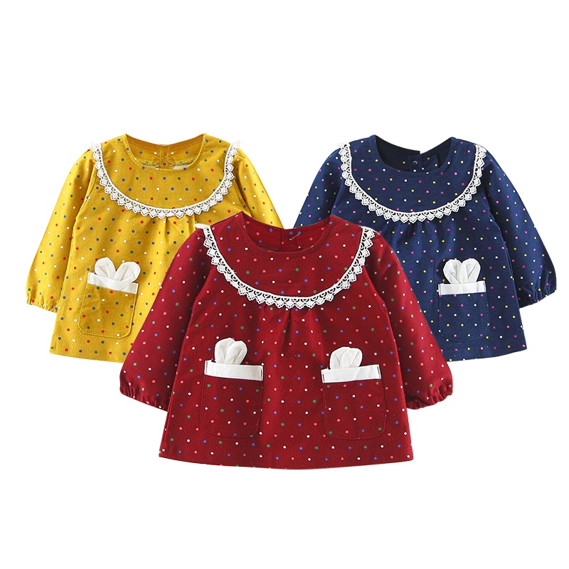 Baby Girl Dress Children Clothing Cartoon Rabbit Long Sleeve Newborn Princess Dresses Baby Girls Wedding Party Clothes Dress