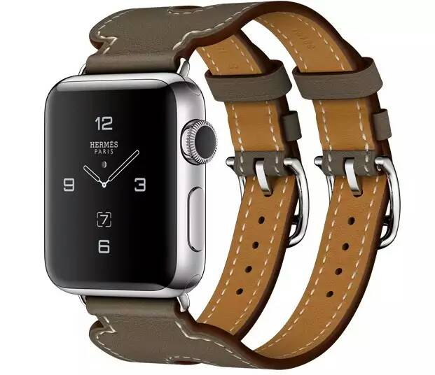 Newest For Apple Watchband2 new Luxury GenuineLeather Band Double Tour Bracelet Leather Strap Watchband for Apple