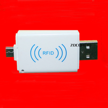 The Newest 125Khz EM4100 Mini USB RFID Reader for For Android Mobile Phone OTG smaller and faster