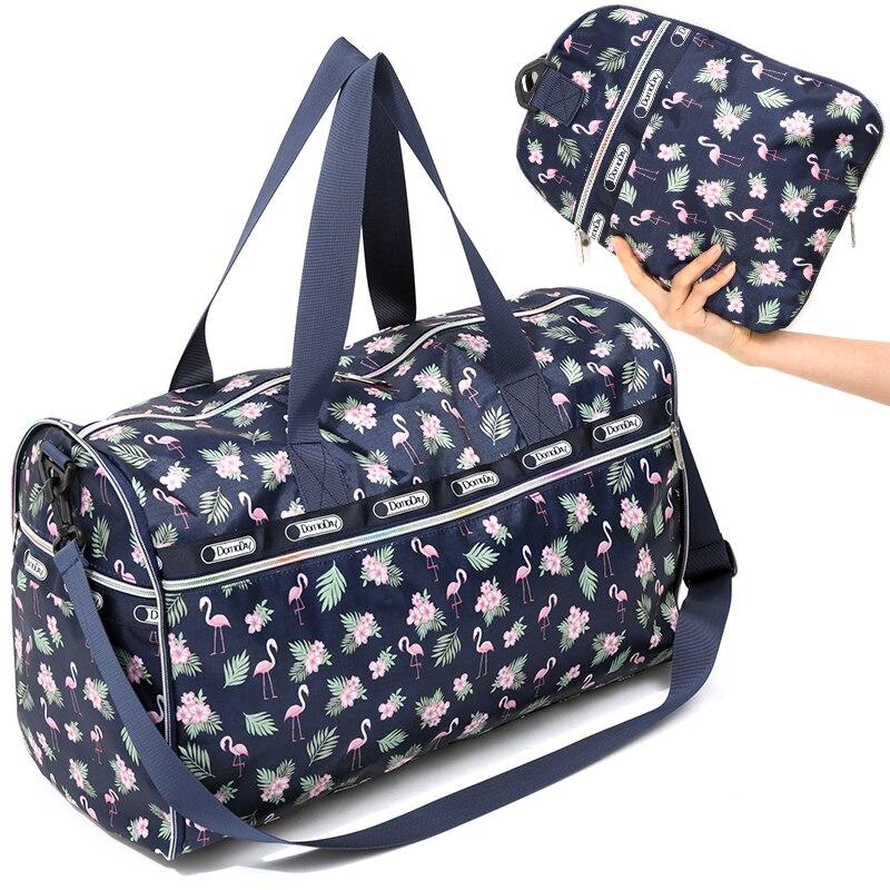 gran inventario 273fe 6ee80 € 18.83 40% de DESCUENTO|Bolsas de viaje plegables a prueba de agua  equipaje de mano para mujer bolsa plegable de gran capacidad bolsos de  hombro de ...