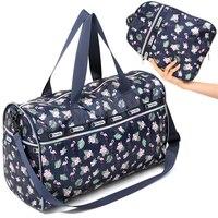 Waterproof Folding Travel Bags Hand Luggage Women Collapsible Bag Large Capacity Sport Shoulder Bags Weekender Bag Travel Women