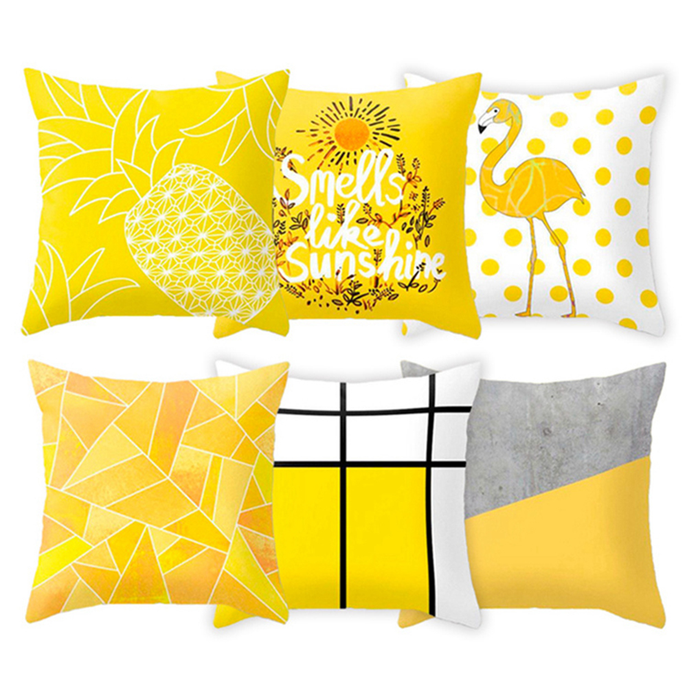HTB1T vuXEGF3KVjSZFvq6z nXXa4 Polyester Geometric Cushion Yellow Pineapple Pillow Decorative Cushion for Sofa DIY Printed Pillow Seat Chair Cushion