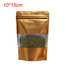 купить Free Fast Shipping 1000pcs Wholesale Stand Up Zip Lock Mylar Pouch Heat Seal Aluminum Foil Packing Bags for Food Storage 10x15cm онлайн