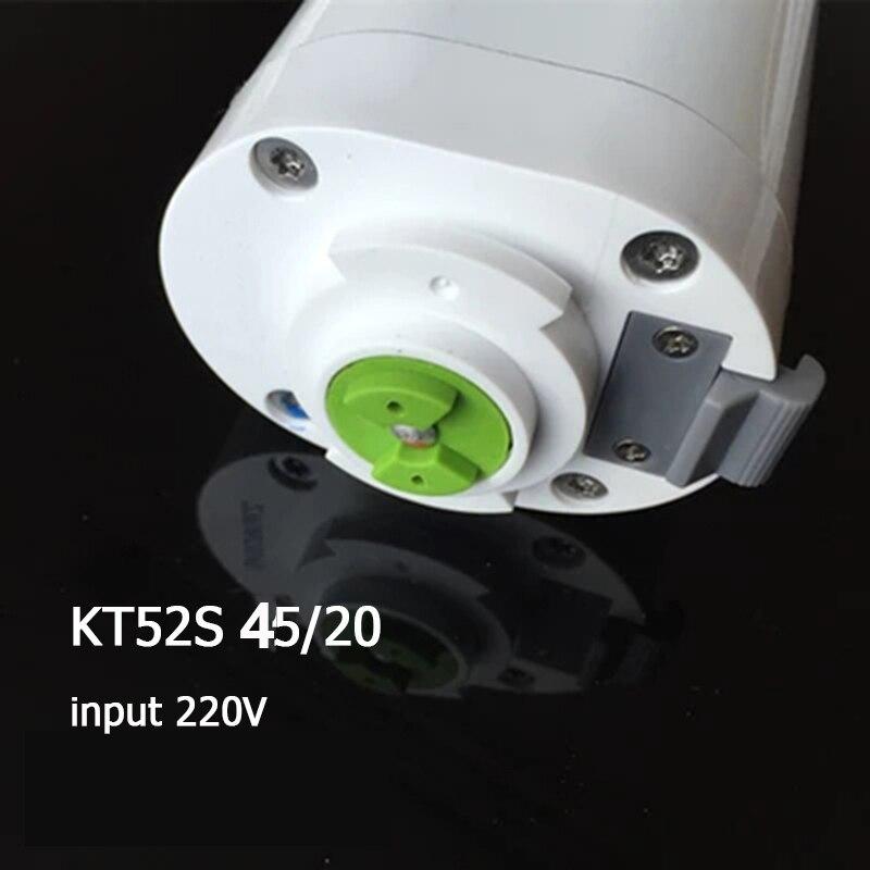 220V 45W 433MHZ cichy zasłona z silnikiem, aby śledzić oryginalny DOOYA silnik kurtyny KT52S 4 przewody wsparcie 100kgs system inteligentnego domu w Rolety, żaluzje i zasłony od Dom i ogród na  Grupa 1