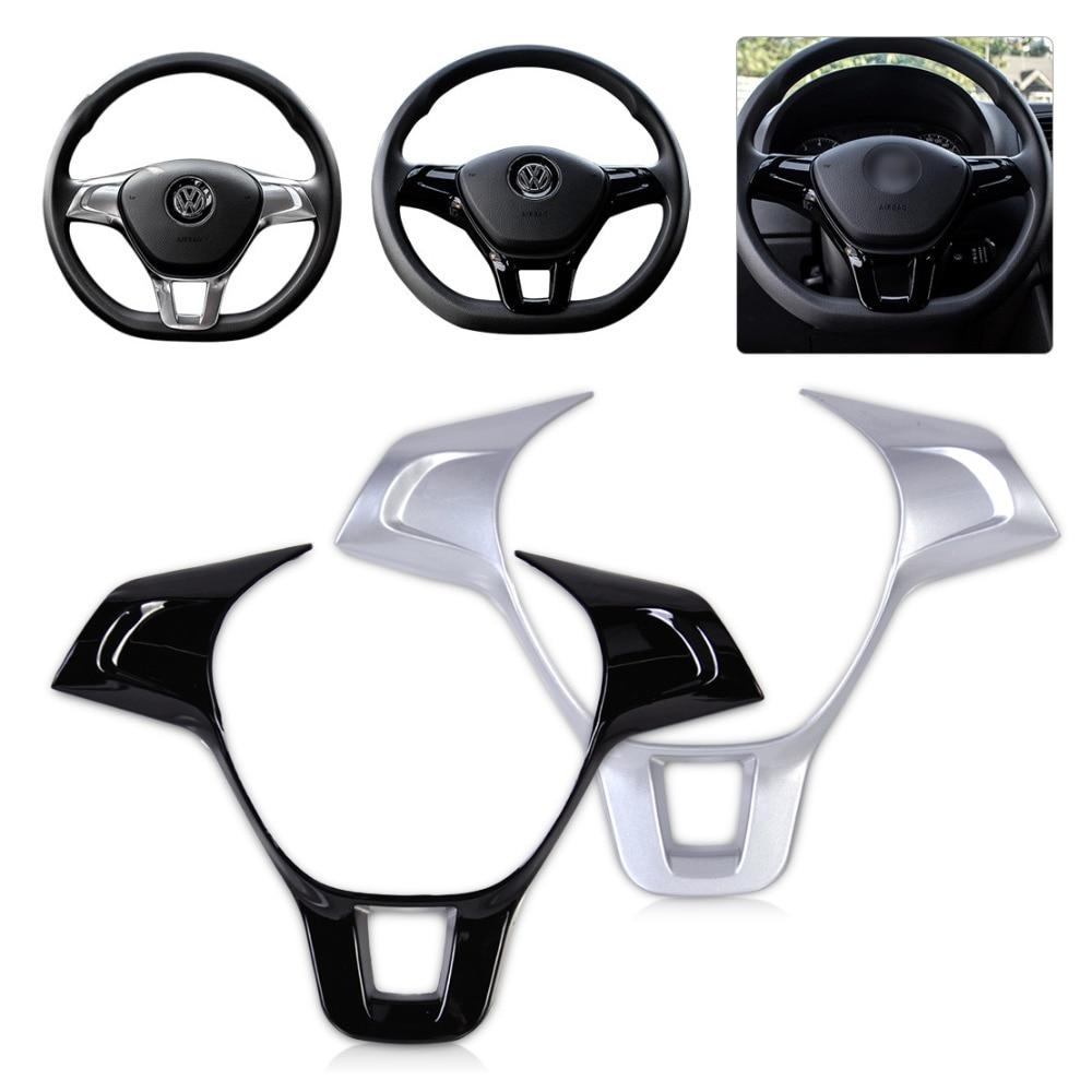 Beler new steering wheel trim cover for volkswagen vw golf mk7 polo 2014 2015 abs plastic