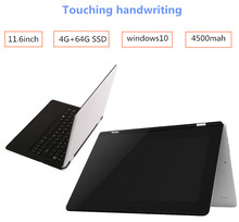 Touching Handwriting 11.6 inch Atom X5-Z8300 laptop 4GB+64GB Windows10 tablet Quad core HDMI with WIFI TF Card 1366*768 notebook(China (Mainland))