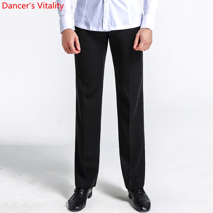 Latin Dance Trousers Fashion Men's Pencil Pants Square Modern Ballroom Waltz Tango Performance Practice Dance Costumes