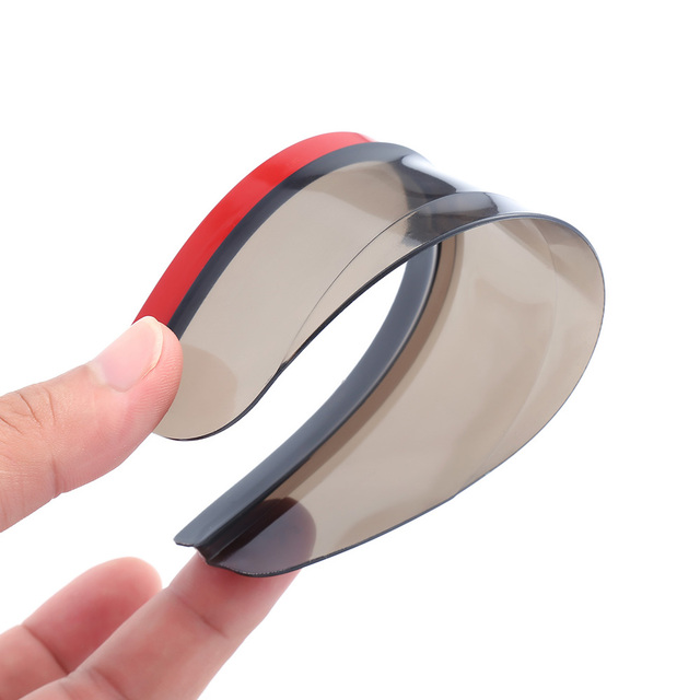 New 2 Pieces Car Rearview Mirror Sun Visor Rain Eyebrow Auto Car Rear View Side Rain Shield Flexible Protector For Car Styling 4
