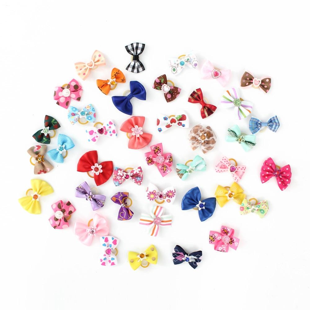 20 50 100 Pcs Handmade font b Pet b font Grooming Accessories Products Dog Bow 6011026