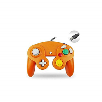Ruitroliker 10pcs Classic USB Wired Controller Gamepad for PC and MAC NGC Orange