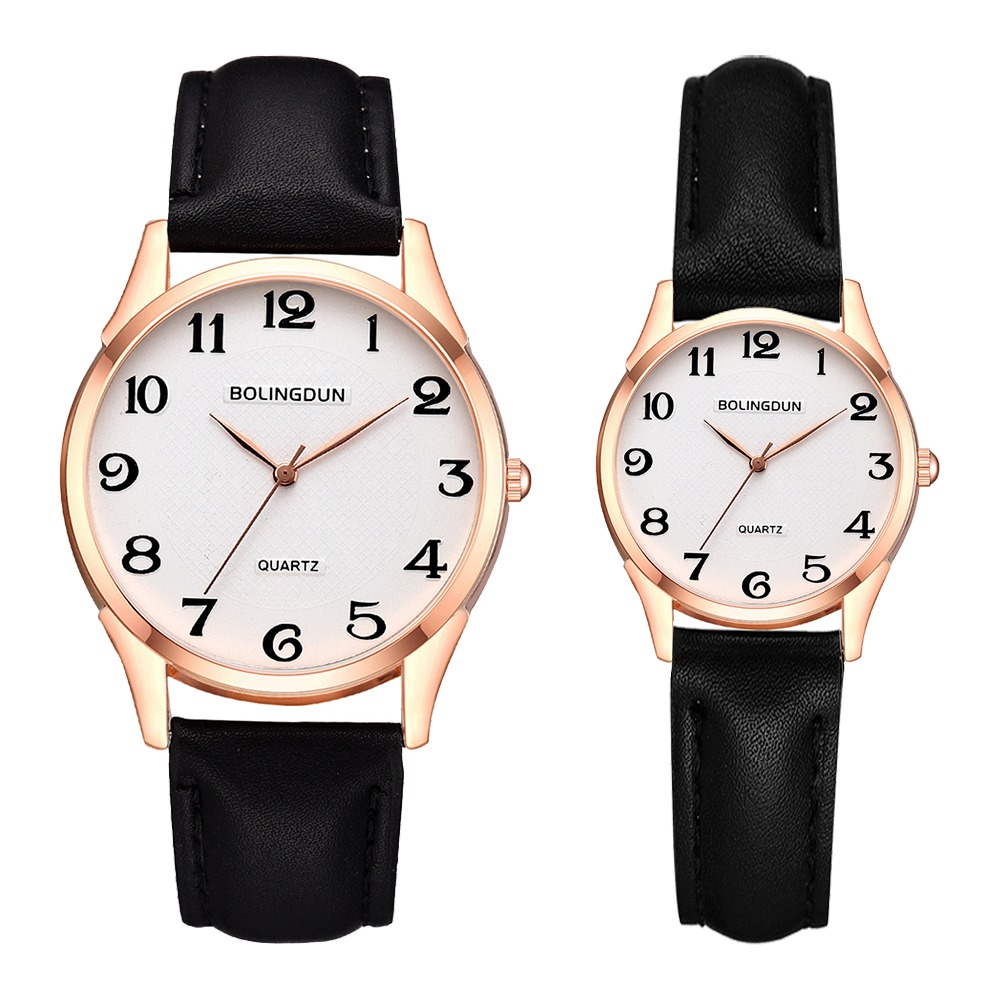 Couple Wristwatch Women Fashion Leather Brand Watches Luxury Ladies Analog Quartz Clock Men Sports Clock Relogio Masculino Set