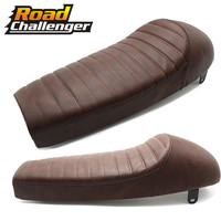 For Suzuki For Honda For Yamaha Brown Motorcycles Long Retro Refit Vintage Hump Cafe Racer Seat