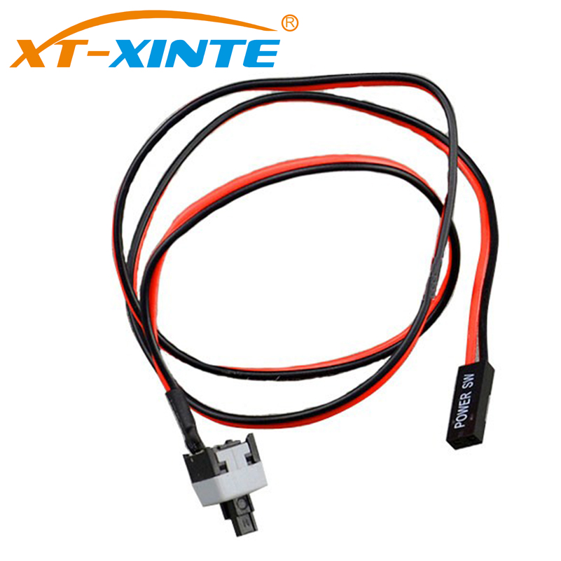 5PCS 50cm 2 Pin SW PC Power Cable On//Off Push Button ATX Computer Switch Wir BS