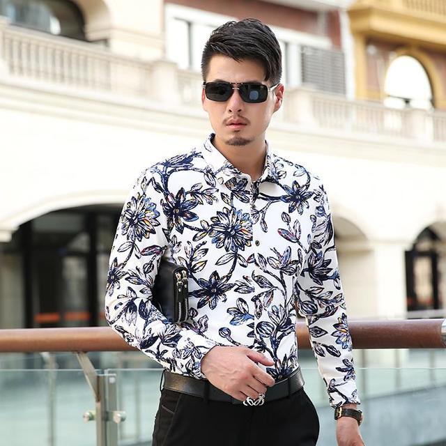 PLUS SIZE M-6XL 7XL 2017 Men Dress Shirt Bussiness Long Sleeve Cmen Formal Shirt Designer Shirts For Men Top Brand Camisa Hombre