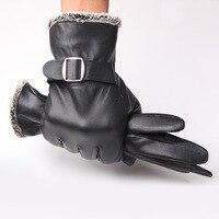New Designer Men Gloves Drive 100 Genuine Leather Sheepskin Mittens Warm Winter Gloves For Fashion Male