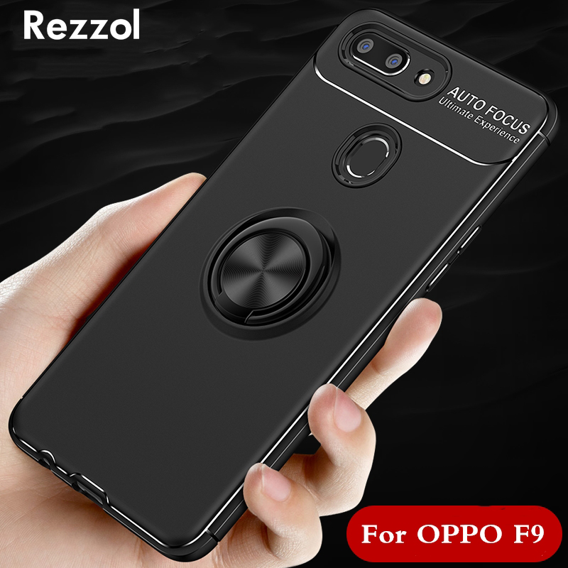 For Cover OPPO F9 Case OPPO A7X TPU & PC Ring Holder Armor Bumper
