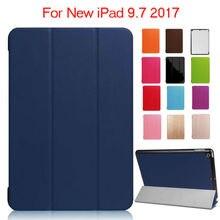 Para el ipad 9.7 2017 Nuevo Modelo de Cuero de LA PU Caso Protector A Prueba de Golpes Cubierta Elegante del soporte Para Apple iPad 2017 Tablet 9.7 pulgadas Fundas