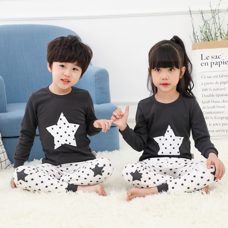 Autumn Winter Children Pajamas Long Sleeve Cartoon Kids Sleepwear Baby Girl Clothes Suit Cotton Child Pyjamas Boy Nightwear Home батарейки energizer carbon zinc eveready d r20 2шт в блистере 637087