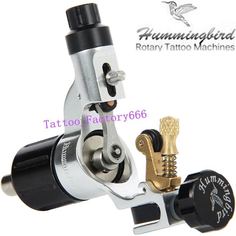 Original Hummingbird Silver Gen 2 Rotary Tattoo Machine Swiss Motor Liner Shader Supply Free RCA Cord
