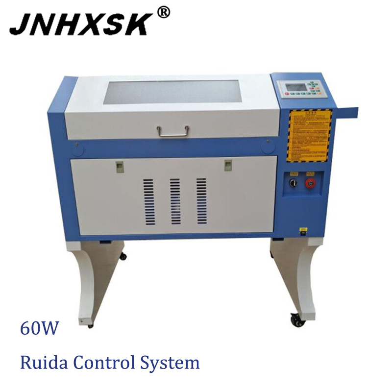 4060 Crystal Laser Cutting Engraving Machine Laser Engraver 60W Ruida 6442s Controller Engraving Laser Machine