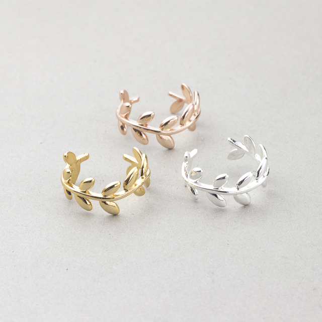 Cute Laurel Wreath Wedding Rings For Women Men Anel Feminino Minimalist Jewelry