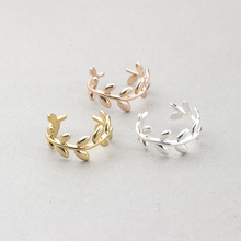 GORGEOUS TALE 2017 New Fashion Collection Authentic Laurel Wreath accessories Laurel branches Leaves Ring Female Woman Jewelry