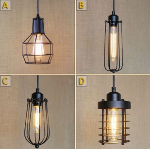 Retro Loft Lamp Industiral Pendant Lights With Black Lampshade Lamparas De Techo VIntage Colgantes retro loft industrial vintage led pendant lights fxitures with glass lampshade dinning room lamp lamparas colgantes