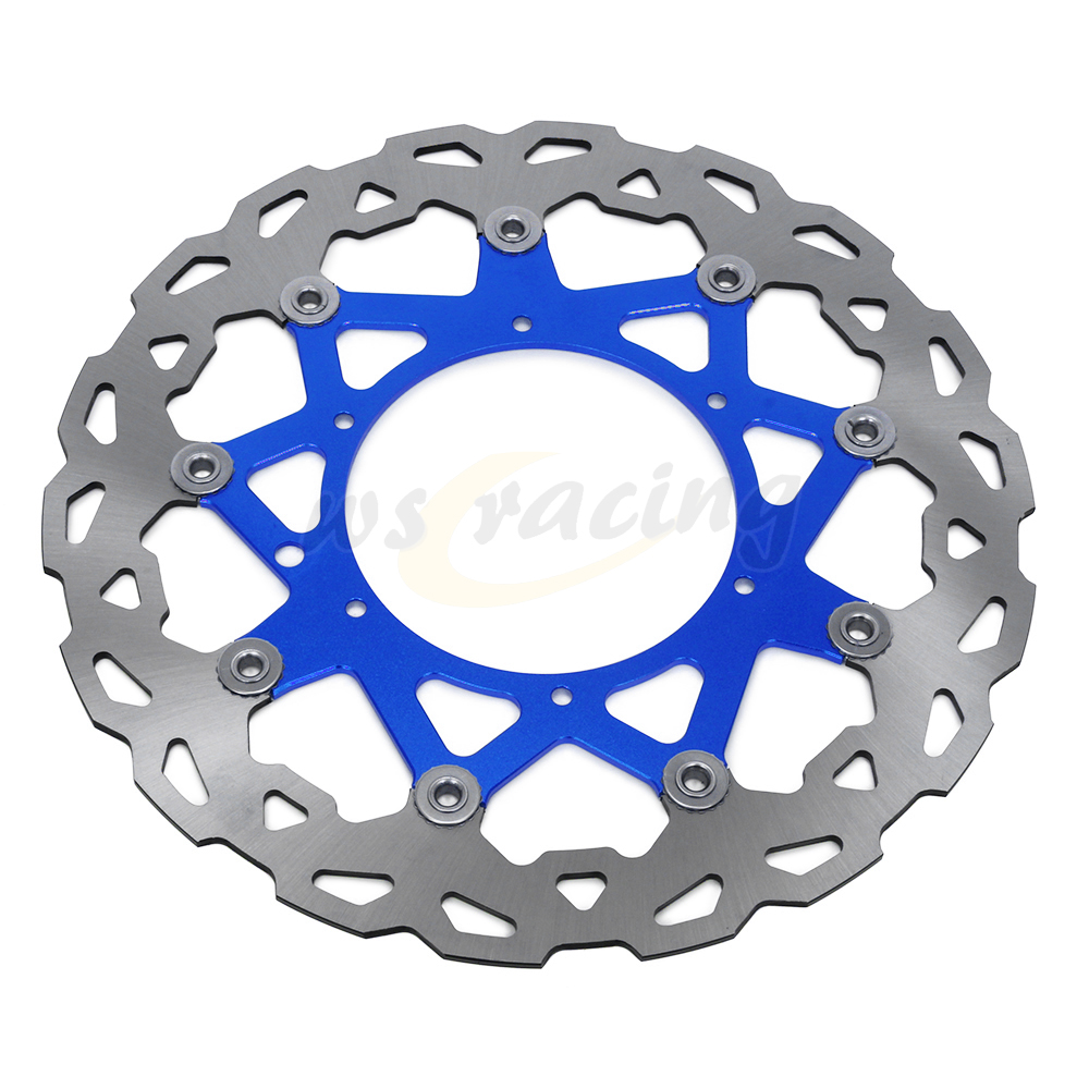 CNC 320MM Motorcycle Front Floating Brake Disc Rotor For YAMAHA YZ250 WR250 YZ250F WR250F WR426F YZ426F WR450F YZ450F motorcycle x brake front brake disc cover for yamaha yz250f yz450f 2007 2013 blue