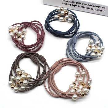 10pcs/lot Women Hair Accessories Pearls  Headbands Ponytail Holder Girls gum for hair Scrunchies Elastic Hair Bands Rubber Rope