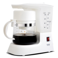 Home Cafe American Coffee Maker Mini Portable Automatic Drip Coffee Machine with Coffee Tea Pot Party Enjoyment Appliance Device