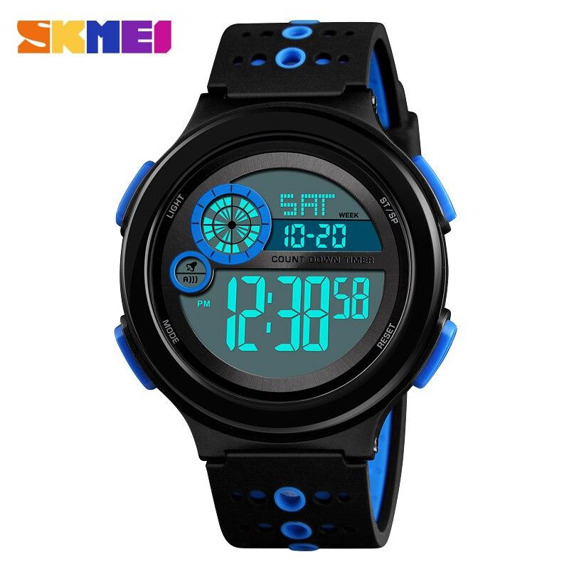 Skmei Brand Men Sport Watch LED Digital Sports Watches Fashion Outdoor Alarm Shock Military Wristwatches Relogio Masculino 2018