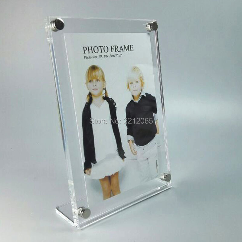 30 units/pack)L Frame Vertically Insert Acrylic Plexiglass Photo ...