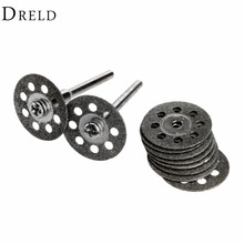 10 Pcs 20mm יהלומי גריסה גלגל דיסק מיני מסור עגול עבור תרגיל רוטרי כלי Dremel אביזרי Dremel חיתוך דיסק עבור מתכת