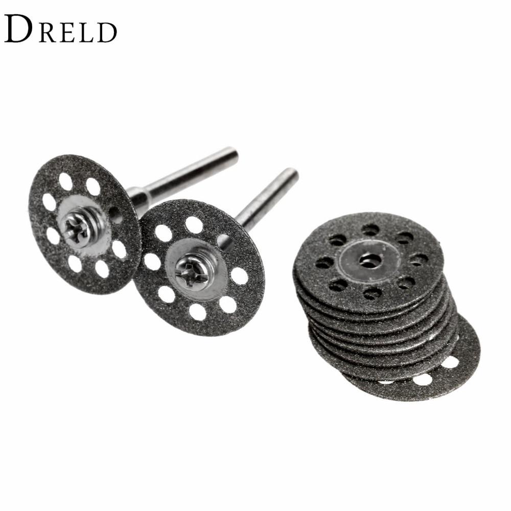 10Pcs 20mm Diamond Grinding Wheel Disc Mini Circular Saw For Drill Rotary Tool Dremel Accessories Dremel Cutting Disc For Metal