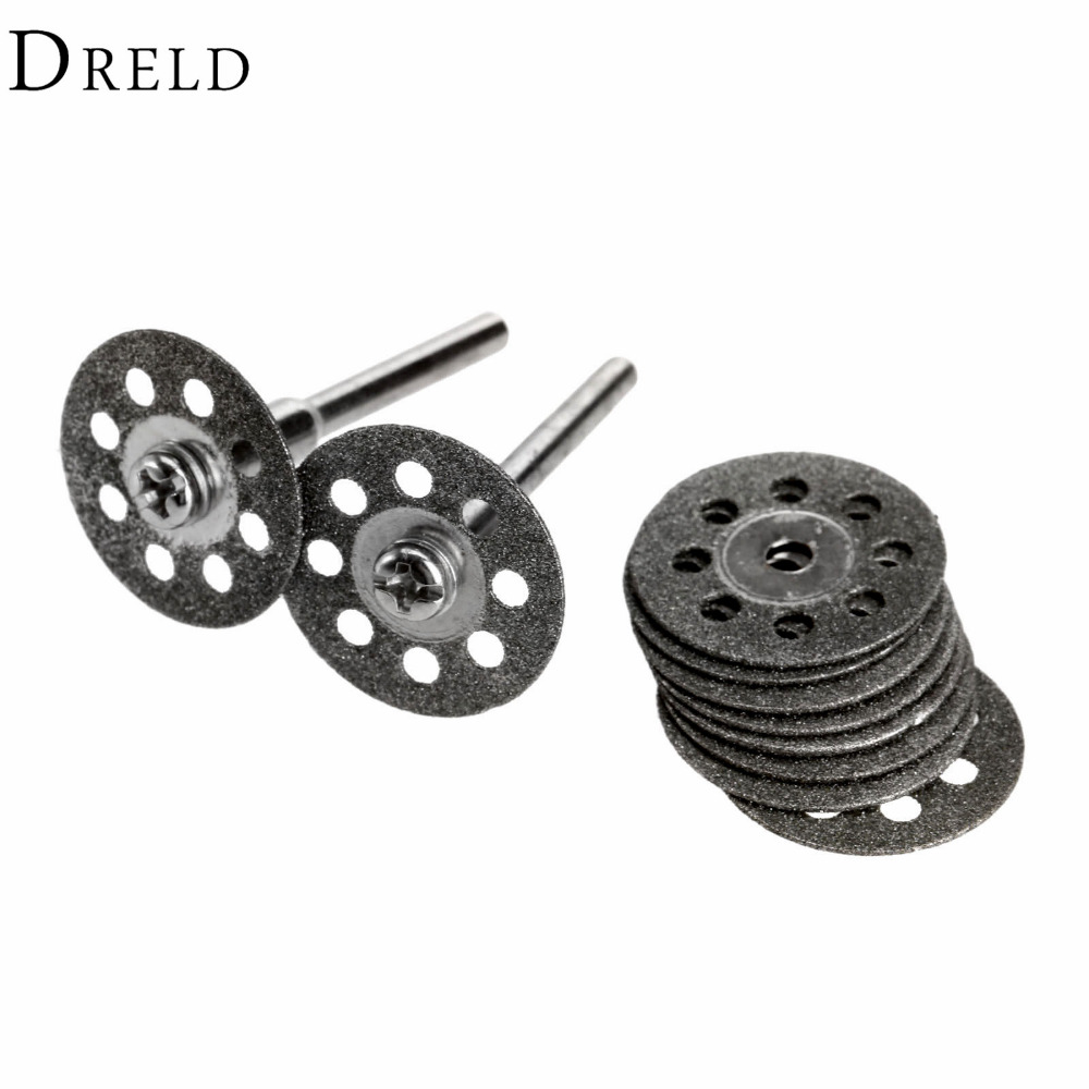 10Pcs Dremel Accessories 20mm Diamond Dremel Cutting Disc for Metal Grinding Wheel Disc Mini Circular Saw for Drill Rotary Tool 37pcs diamond cutting disc for dremel tools accessories mini saw blade diamond grinding wheel set rotary tool wheel circular saw